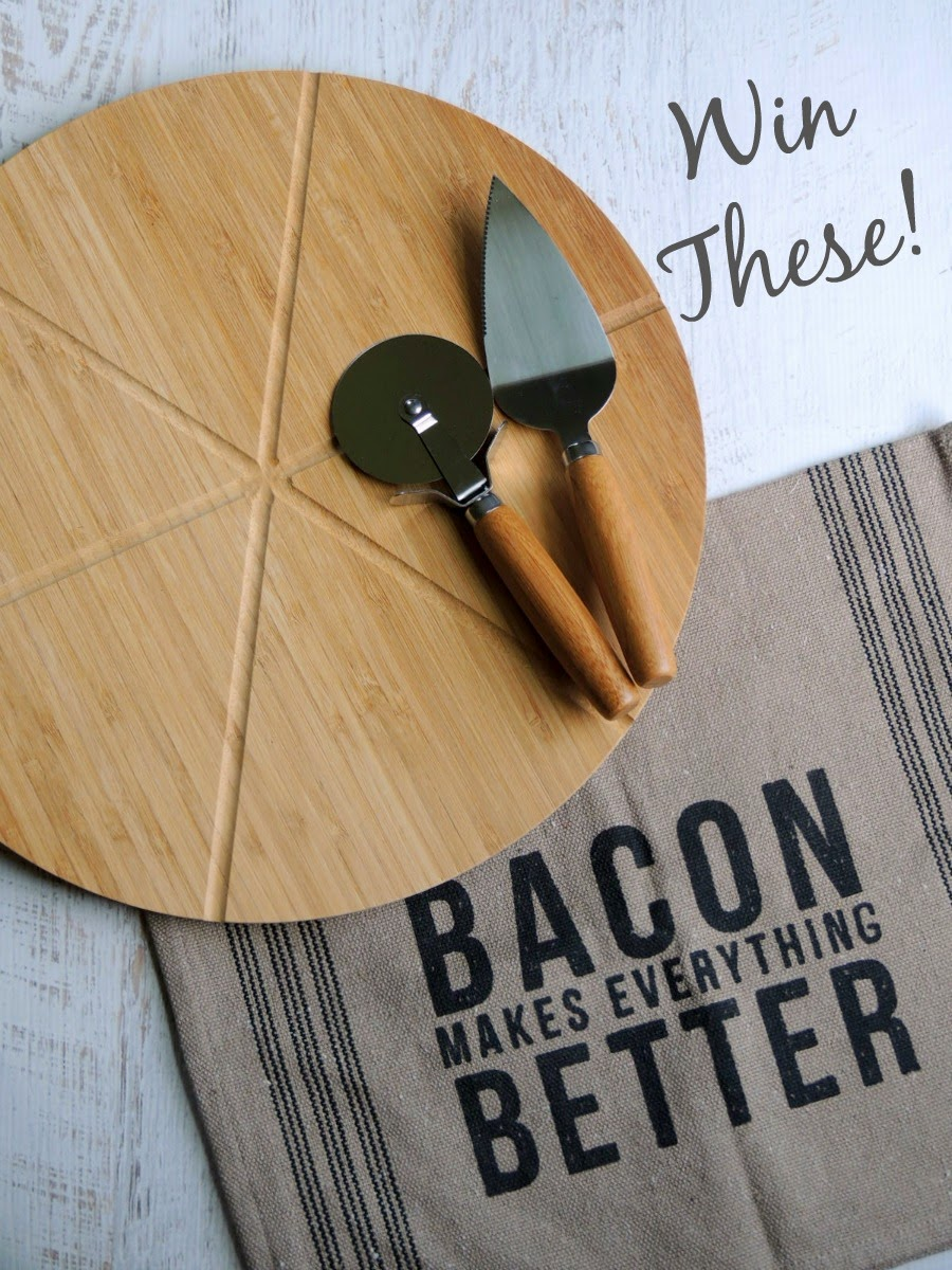 Core Bamboo Ultimate Pizza Set & Bacon Kitchen Towel Giveaway! via thefrugalfoodiemama.com #baconmonth