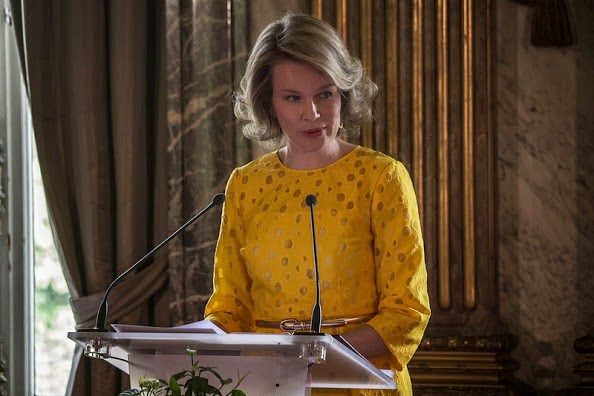 Queen Mathilde Attends The Award Ceremony Of The Queen Mathilde Prize 2015