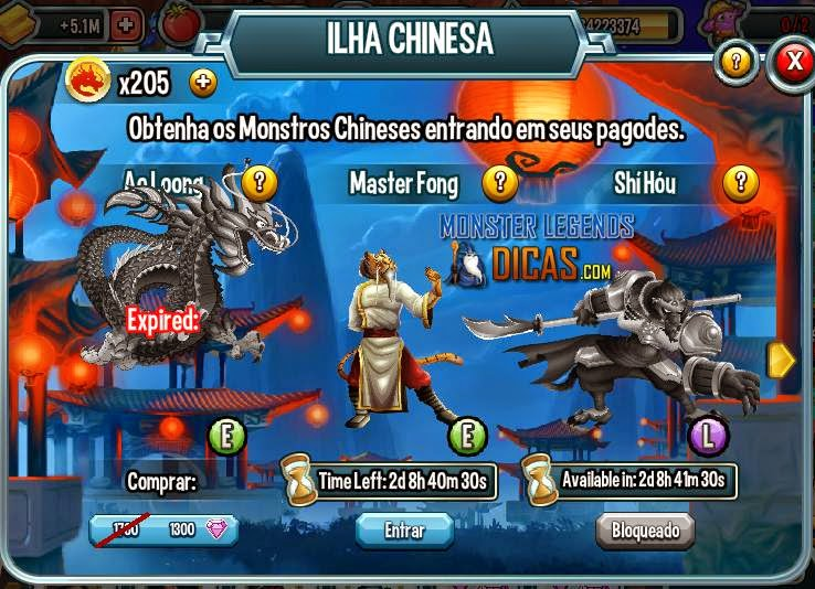 Ilha Chinesa - Monster Legends