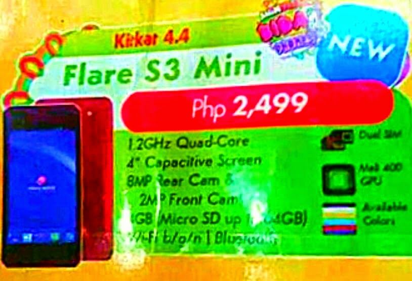 Cherry Mobile Flare S3 Mini, 4-inch Quad Core for Php2,499