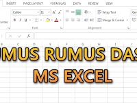 Rumus Rumus Dasar Ms Excell bagi para Guru