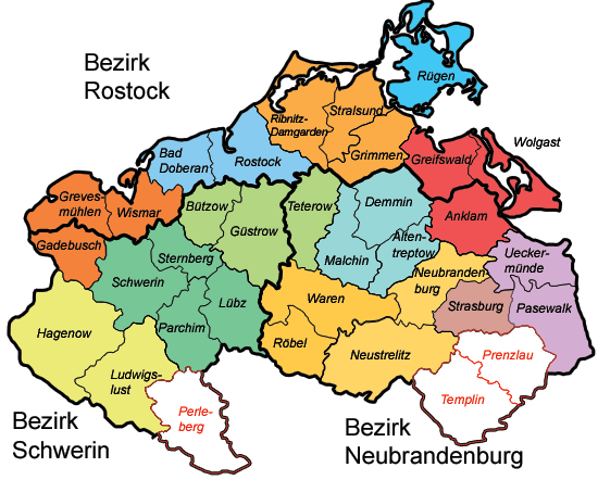 Mecklenburg Vorpommern Map Federal States of Germany Map of Germany