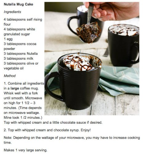 Brownie Mix Mug Cake Recipe
