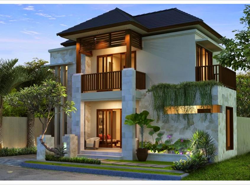 desain rumah minimalis 2 lantai model hook dan biaya