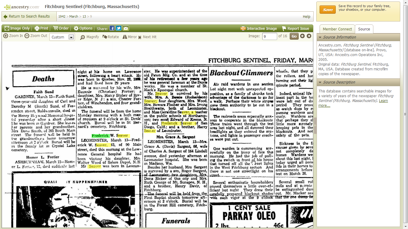 How can I cite an Obituary from an online newspaper?