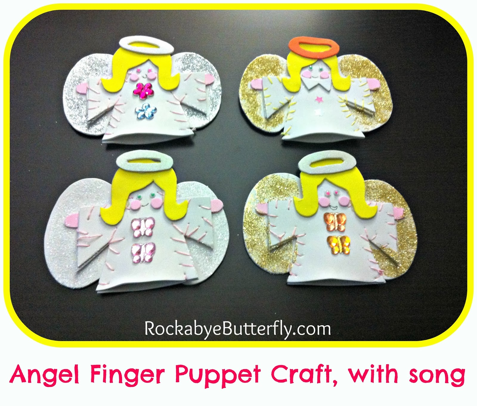 Rockabye Butterfly: Christmas Angel Puppets