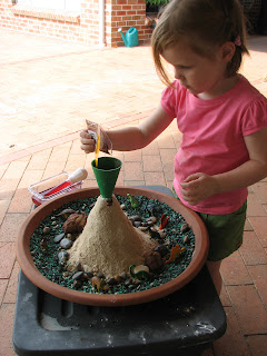 how to make a volcano with a plastic bottle