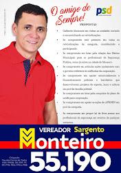 Sargento Monteiro Candidato a Vereador em Pau dos Ferros