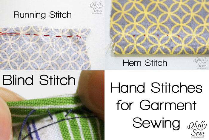 Hand Sewing Stitches For Sewing Clothes Melly Sews