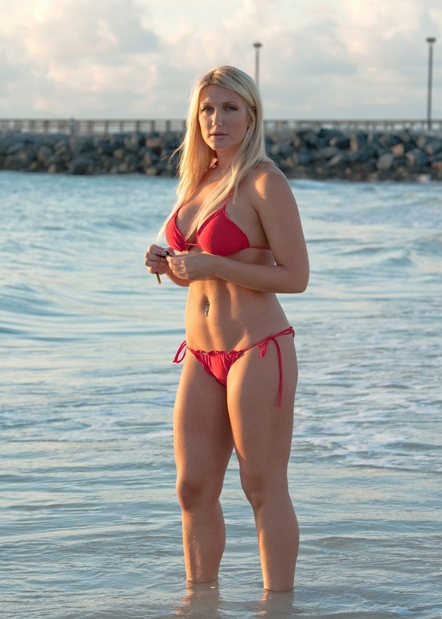 Brooke hogan pink thong bikini apologise, but