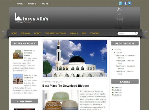 Insya Allah Blogger Theme