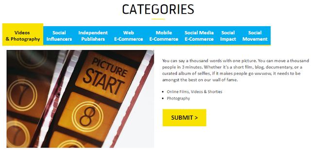 Digi WWWOW Awards Categories