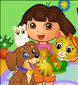 Dora Taking Care of Pets
