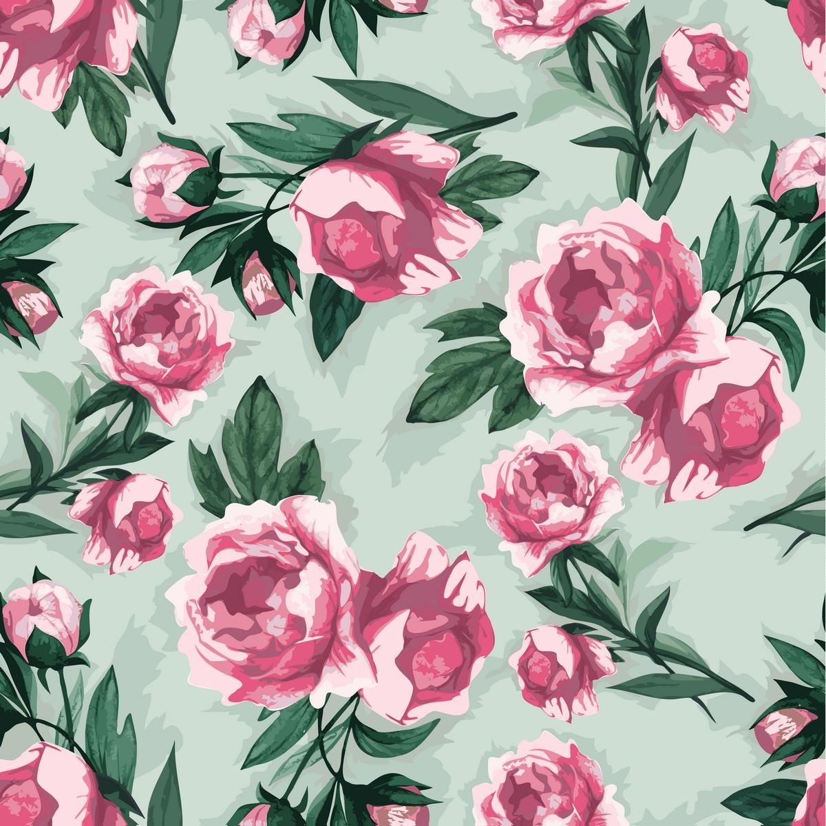 Фон бесшовный с розами.