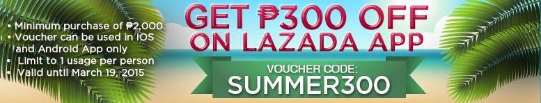 Lazada Mobile Summer Sale PHP300 Voucher Code