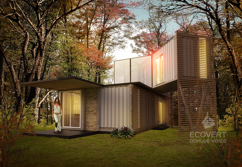 Custom homes arquitectura de contenedores ecovert for Arquitectura contenedores maritimos
