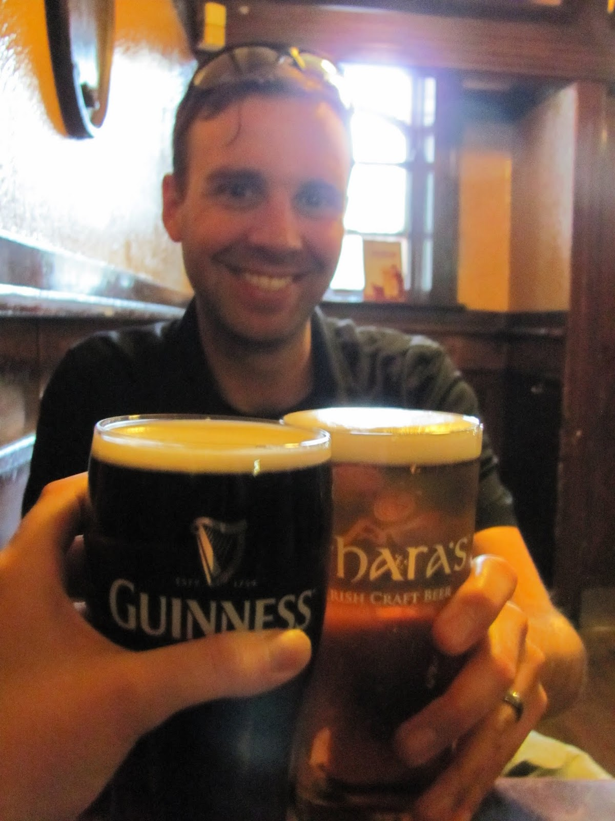 O'Hara's Pale Ale and McGargle's Ale (Guinness Glass)