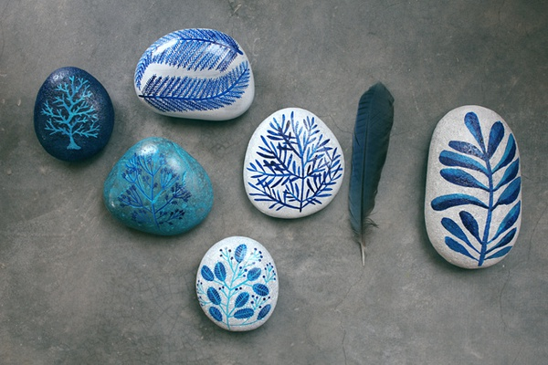 malowane kamienie diy dekoracja eco manufaktura
