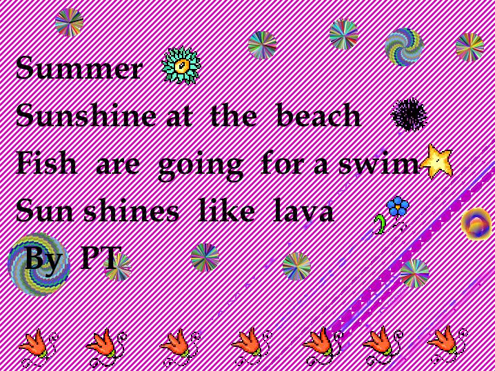 Room 40 Brainiacs Our Wonderful Summer Haiku Poems Impressive What's The Pattern Of A Haiku