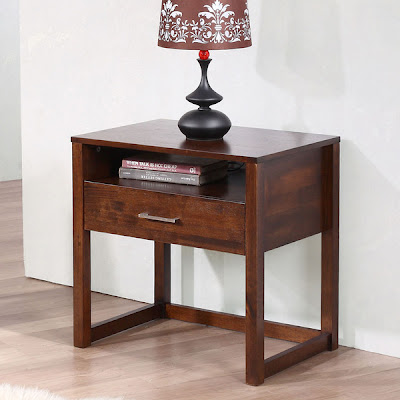 Crate and Barrel Linea 1 Drawer Nightstand