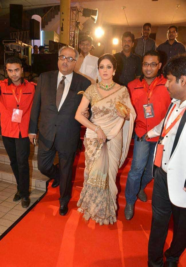Sridevi Kapoor and Boney Kapoor At SIIMA Awards 2014