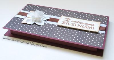 card making opakowanie na czekoladę scrapbooking