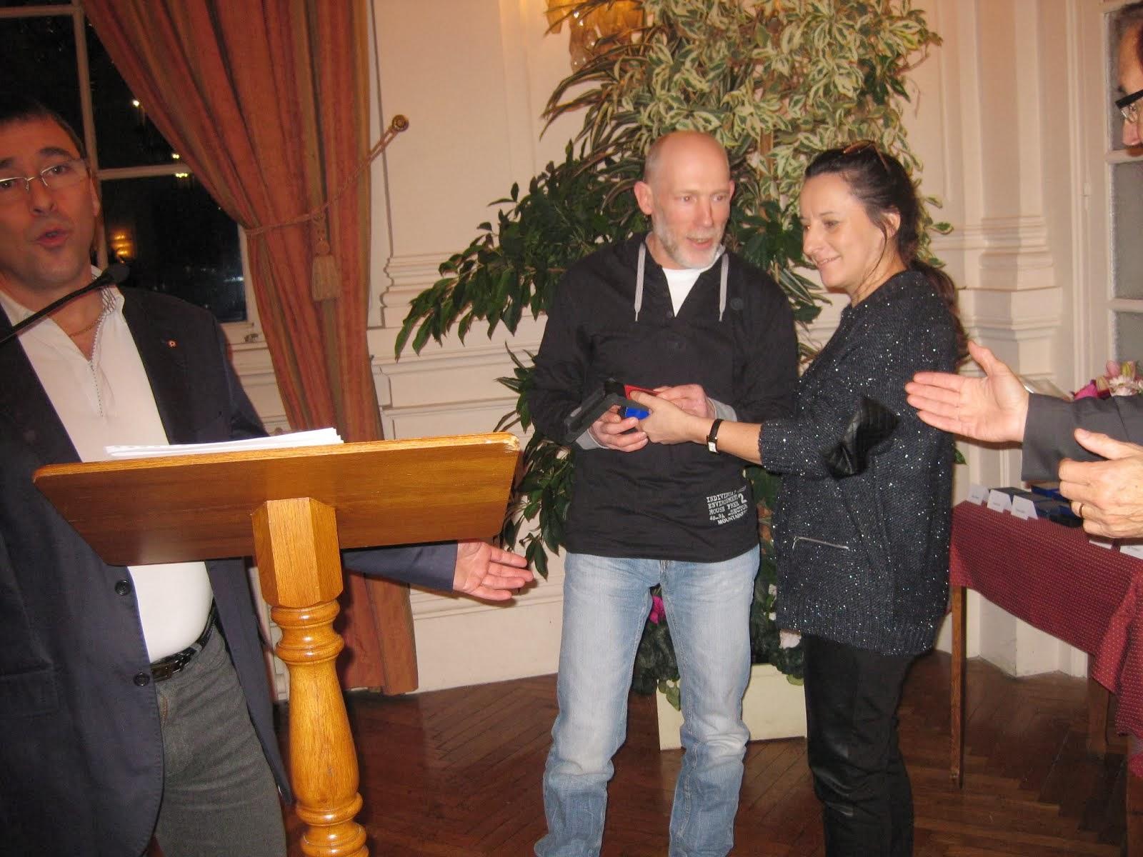 fabrice à reçu la médaille de la ville d yvetot
