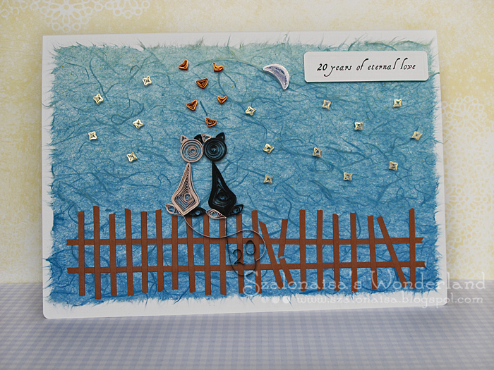 Quilled handmade cards szalonaisa s wonderland quilling wedding