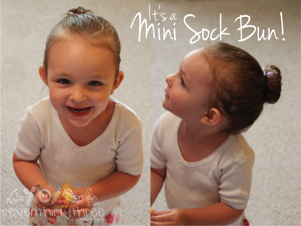 Bright idea 4 physical therapy - I Got The Bright Idea For A Mini Sock Bun So I Clipped The Toe Off One Of Little Munchkins Mismatched Socks And Voila You Have A Mini Me