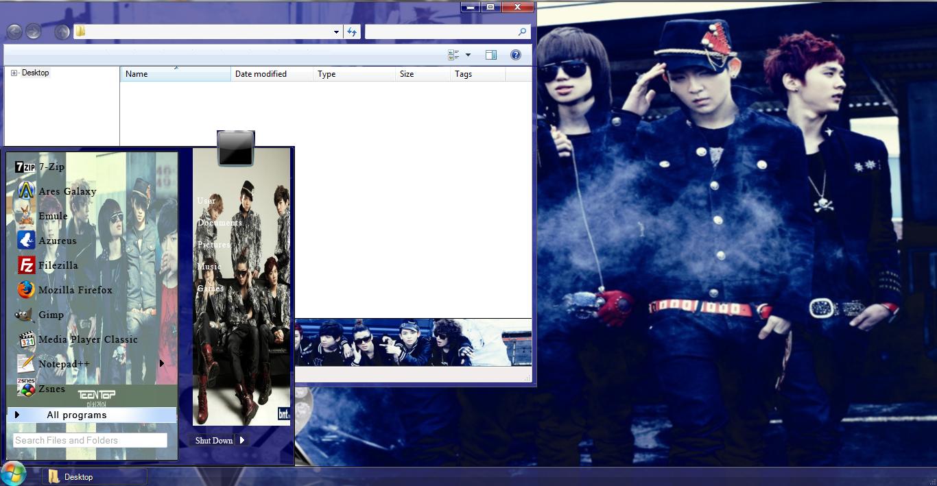 My Kpop Fanatik Teen Top Crazy Win 7 Theme Download