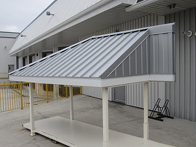 Aluminum roofing sample