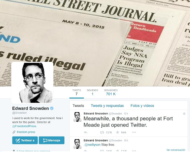 Edward Snowden está en Twitter