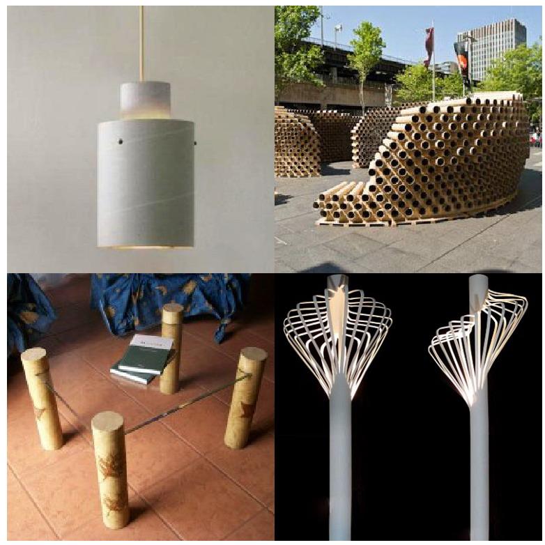 El mundo del reciclaje reciclar tubos de cart n for Decoracion de interiores reciclado