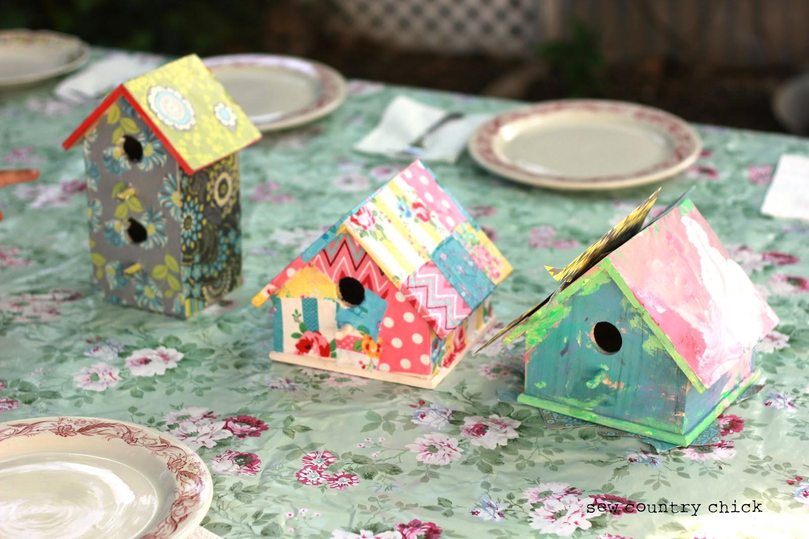 Mod Podge A Birdhouse Spring Crafts With Kids