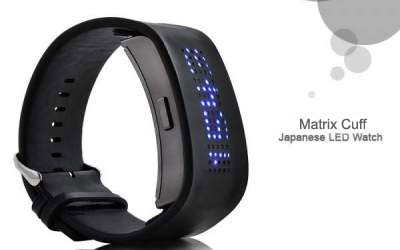 LED Watch Matrix Cuff