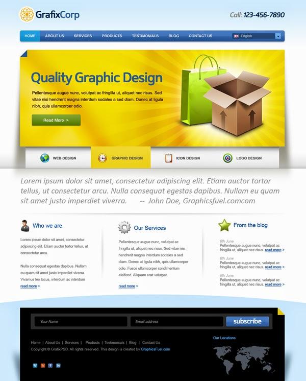 Elegant Website Template PSD