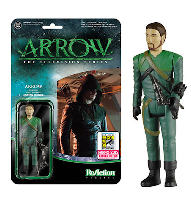 "San Diego Comic-Con 2015 Exclusive ""Unmasked"" Arrow TV Series ReAction Retro Action Figure by Funko & Super7"
