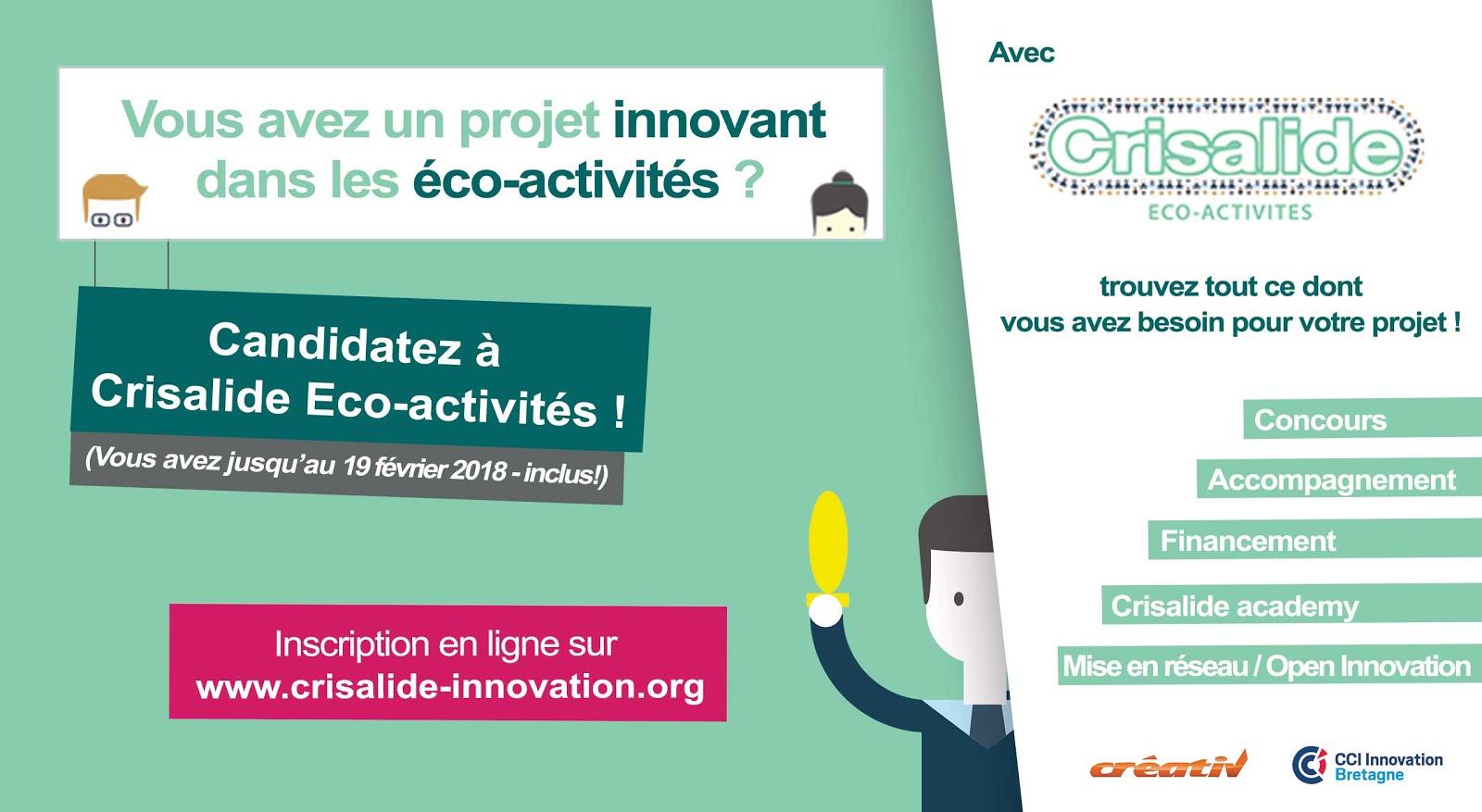 Candidatez à Crisalide Eco-activités !