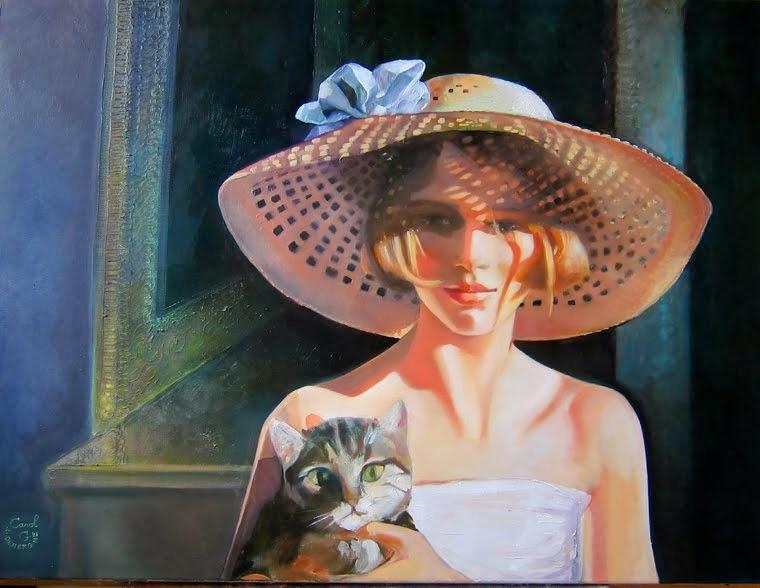 Aude et son chat Seccotine