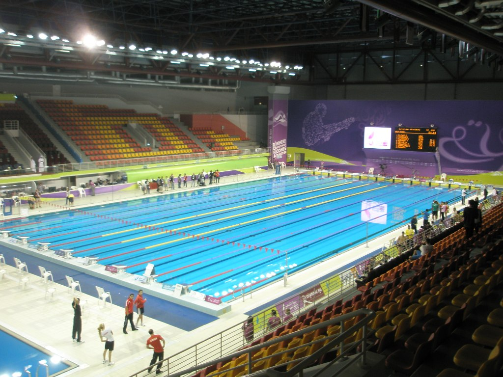 Aspire Qatar Swimming I got there earlier than