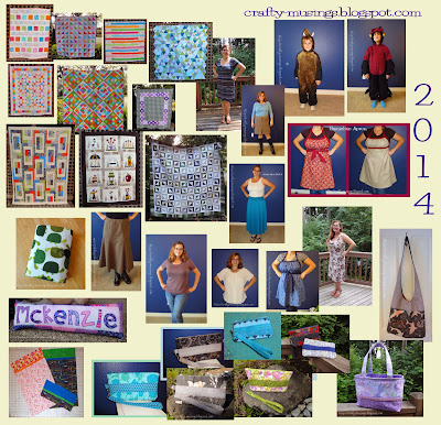 Crafty-Musings 2014 completed projects collage... woo!