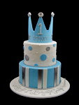 Crown Blue Wedding Cakes