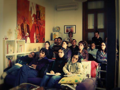 Alumnos del workshop de ilustración