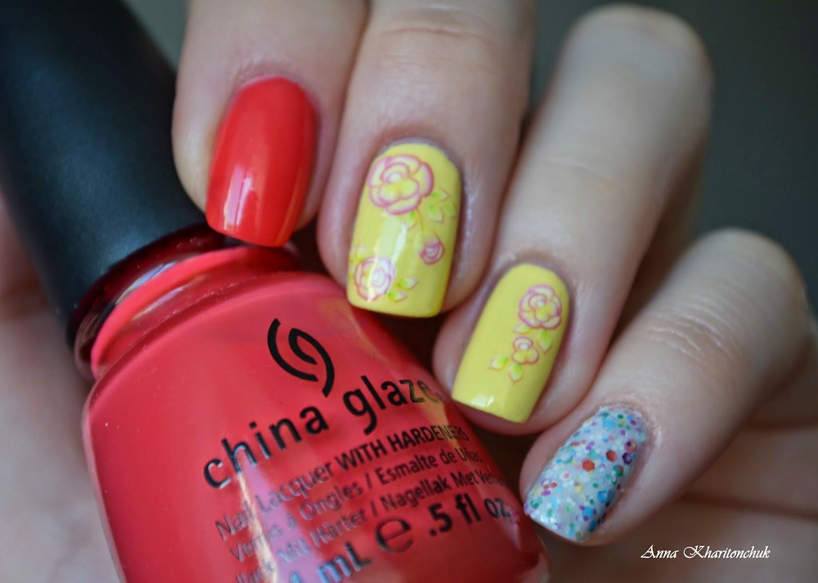 """Конкурсный маникюр, """"Пасхальный звон"""", China Glaze, слайдер-дизайн"""