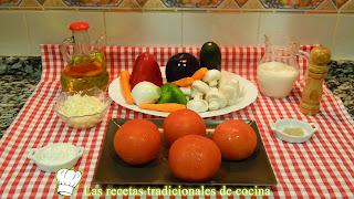 Tomates al horo rellenos de verduras