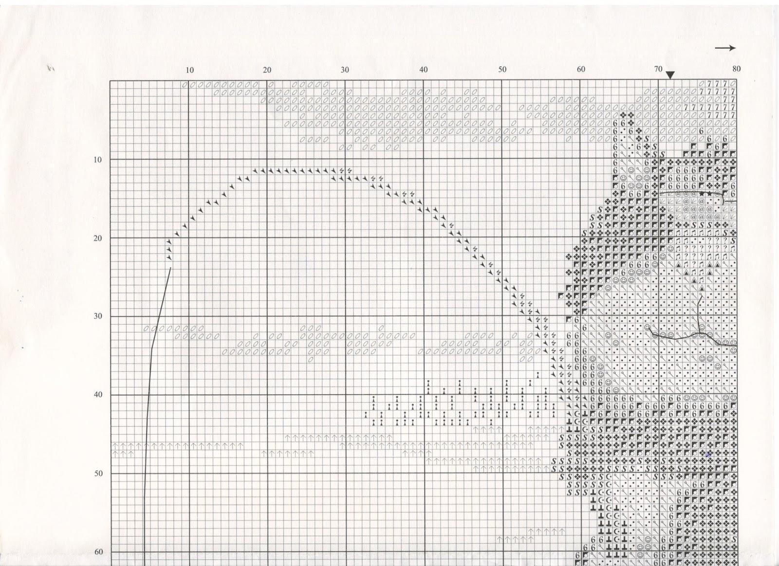 Схема вязания узора ажурные дорожки