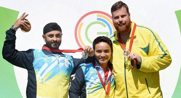 Jitu Rai wins gold in Commonwealth Games 2014