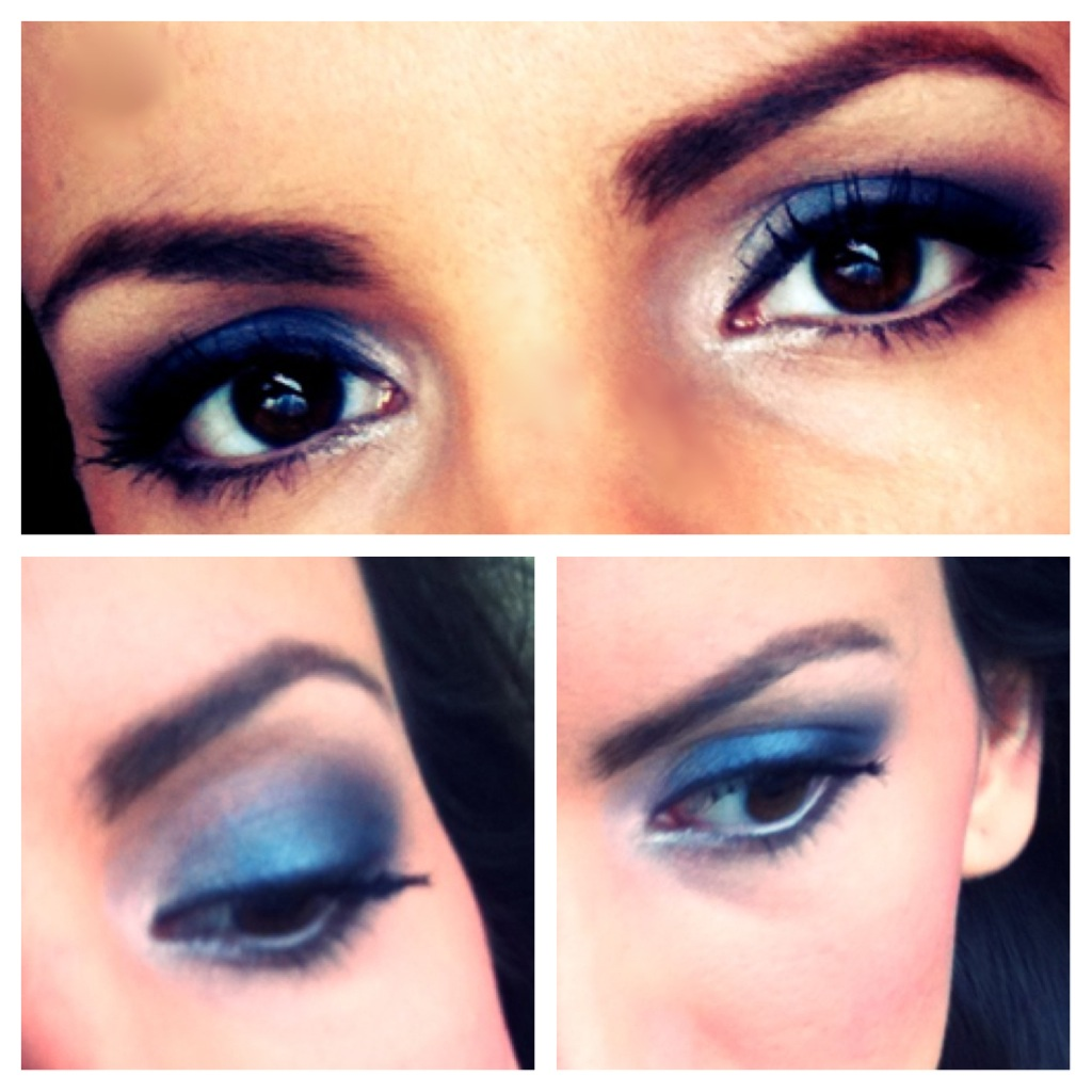 rinolanas beauty blog blue smokey eyes make up mini. Black Bedroom Furniture Sets. Home Design Ideas