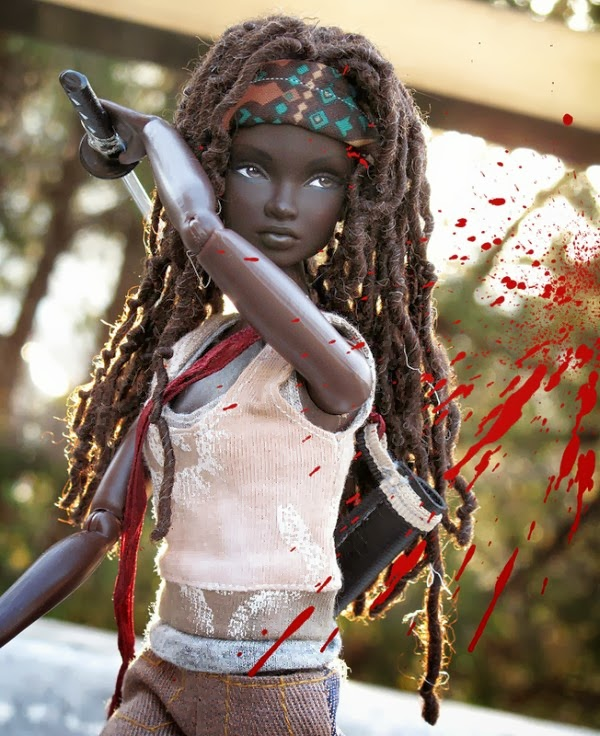 walking dead barbie boneca fodona