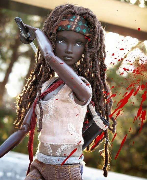 walking dead barbie boneca fodona